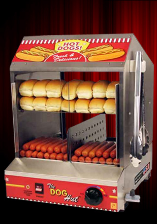 popcorn machines paragon the dog hut hotdog steamer. Black Bedroom Furniture Sets. Home Design Ideas